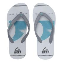 Chinelo Switchfoot Kell Grey Ultra Resistente Cinza Claro Reef