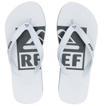 Chinelo Switchfoot Logo Camélia Ultra Resistente Branco Reef