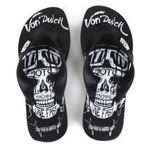Chinelo Von Dutch Plus Vd-Moto Skull -