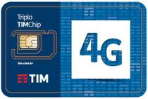 Chip da TIM  SIM CARD AVULSO TRIPO PRE ATIVO 4G -