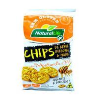 Chips de arroz e milho sabor mostarda e mel sem glúten 70g  n.life - Natural Life