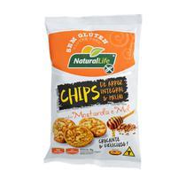 Chips de Arroz Integral e Milho Sabor Mostarda e Mel Sem Glúten 70g - NaturalLife -