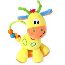 Chocalho de Pelúcia - 17 Cm - Girafinha do Bebê - Amarela - Love -