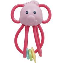 Chocalho Elefantinho Divertido - Rosa - Buba -