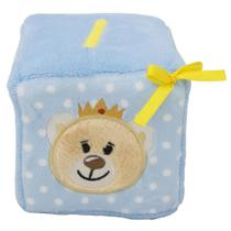 Chocalho para bebê dado de pelúcia Principe letras e números - Bbr Toys