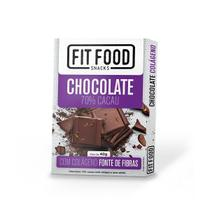 Chocolate 70% Cacau com Colágeno Fit Food 40g - Fitfood