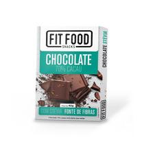 Chocolate 70% Cacau com Stevia Fit Food 40g - Fitfood