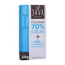 Chocolate 70 com Sal do Himalaia e Amendoas 25g - Java Chocolates