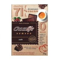 Chocolate 71% Cacau com Café Chocolife Senses 25g