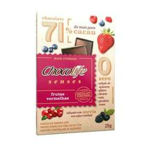 Chocolate 71% Cacau Frutas Vermelhas Chocolife Senses 25g