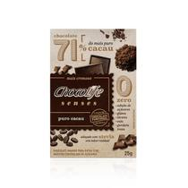 Chocolate 71% Puro Cacau Chocolife Senses 25g
