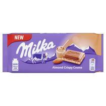 Chocolate Almond Crispy Creme ( Recheado com creme crocante de Amêndoa) 90g - Alemanha - Milka
