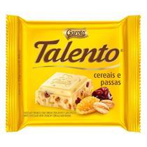 Chocolate Branco Garoto Talento Cereais e Uvas Passas com 25g -