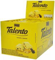 Chocolate Branco Tablete Talento Amarelo Cereais e Passas 90Gr C/12un - Garoto -