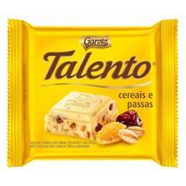Chocolate Branco Talento Cereais e Passas 25g Garoto -