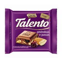 Chocolate Garoto Talento Amêndoas e Uvas Passas 25g -
