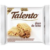 Chocolate Garoto Talento Branco Doce De Leite Tablete 90 G -