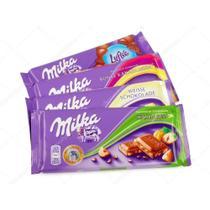 Chocolate milka - 12 barras de 100g sabores diversos -