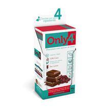 Chocolate Only4 70% - Cranberry Sem Lactose Caixa com 6 un de 80g - TUDO ZERO LEITE