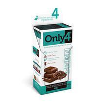 Chocolate Only4 70% - Nibs de Cacau Sem Lactose Caixa com 6 un de 80g - TUDO ZERO LEITE