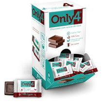 Chocolate Only4 70% - Puro Sem Lactose Caixa com 30 un de 5g - Tudo Zero Leite