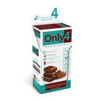 Chocolate Only4 70% - Puro Sem Lactose Caixa com 6 un de 80g - Tudo Zero Leite