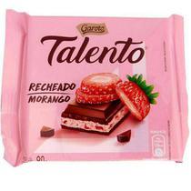 Chocolate Tablete Talento Recheado Morango 90gr C/12 - Garoto -