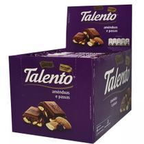 Chocolate Tablete Talento Roxo Amêndoas e Passas 90Gr C/12un - Garoto -