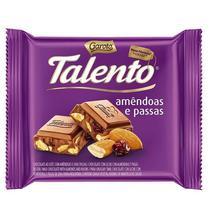 Chocolate Talento Amêndoas e Passas 90g - Garoto