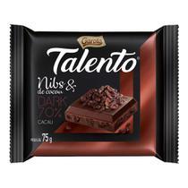 Chocolate Talento Dark Nibs de Cacau c/15 - Garoto -