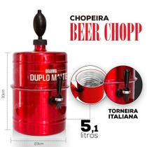 Chopeira Brahma Duplo Malte Vermelha Personalizada - Portátil 5,1 L - Beer Chopp