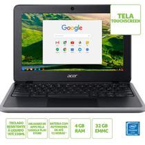 "Chromebook Acer 11,6"" Hd C733t-c2hy/ Nx.hkpal.002/ Celeron N4020/ 4gb/ 32gb/ Chrome Os -"