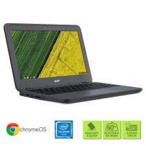 "Chromebook Acer C731-C9DA Intel Celeron 4GB RAM 32 eMMC Tela de 11.6"" HD Chrome OS"