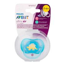 Chupeta Avent 0-6 Meses Ultra Air Boys Decorada Dino - Philips avent