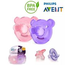 Chupeta Calmante Soothie Philips Avent Rosa E Lilas 0 Mes + -