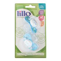 Chupeta de Silicone - Papai - 2 Unidades - Azul - Lillo -