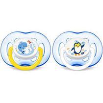 Chupeta Freeflow Azul Dupla 18m+ - Philips Avent -