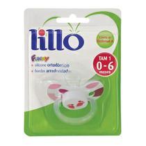 Chupeta Funny Silicone Ortodontico Rosa  0-6 Meses Lillo -