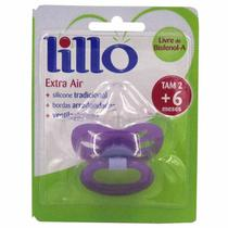 Chupeta Silicone Redondo Fase 2 Roxo - Lillo Ref 610850 -