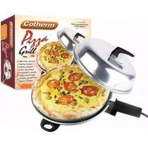 Churrasqueira e Forno Pizza Grill Elétrico 2 em 1 com Tampa e Forma Redonda 220V Cotherm 1152 -