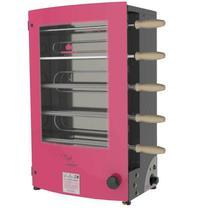 Churrasqueira Elétrica Rotativa Progás Revolution PRR-051 EN, 5 Espetos, Vermelha -