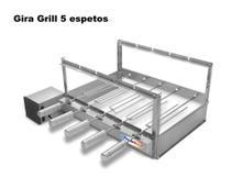 Churrasqueira Giratória Inox Grill 5 Espetos Gira Bivolt Motor WEG Lado Esquerdo - Pratic + Brinde -