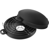 Churrasqueira Grill Antiaderente 30cm de Fogão com Tampa Panelux Ref 51449 -