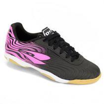 Chuteira Futsal Dray Topfly X2 - Infantil 371 - Preto/Pink -