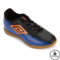 Chuteira Futsal Indoor Umbro Footwear Burn 72138 - Marinho/Laranja -