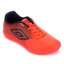 Chuteira futsal umbro f5 light jr infantil - coral e marinho -