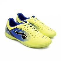 Chuteira Indoor Futsal Verde e Azul - Dsix - Dray artigos esportivos