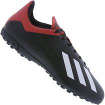 4968c4f6e163f Chuteira Society Adidas X 18 4 TF - Preto e Vermelho - Masculino -