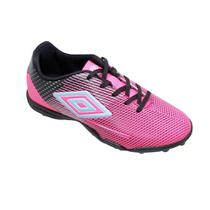Chuteira Society Umbro Speed Sonic Júnior - Rosa e Preto -
