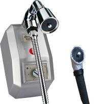 Chuveiro Eletrônico Kdt Prata + Desviador 220v 8800w -